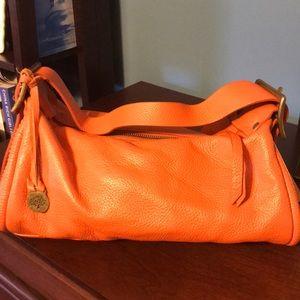 Orange leather purse. Mulberry.